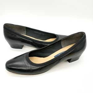 Selby Heels Leather Black Size 11